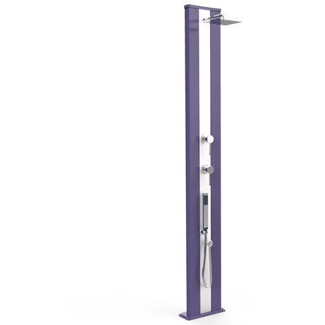 Douche Dada S en aluminium violet et ino cm 34x14x229 ARKEMA DESIGN - prodotto made in Italy CV-D440/4005-I