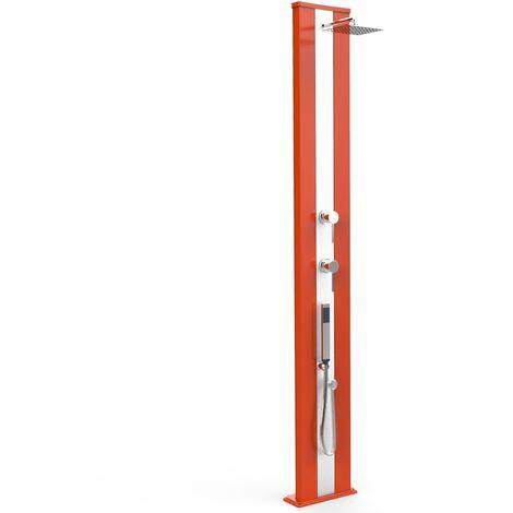 Douche Dada S orange et inox avec douche cm 34x14x229 ARKEMA DESIGN - prodotto made in Italy CV-D440/2009-I