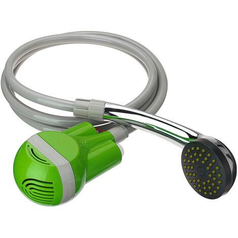 Douche de camping USB 12V douche + pompe submersible voiture caravane jardin extérieur(vert, buse de douche uniquement verte)
