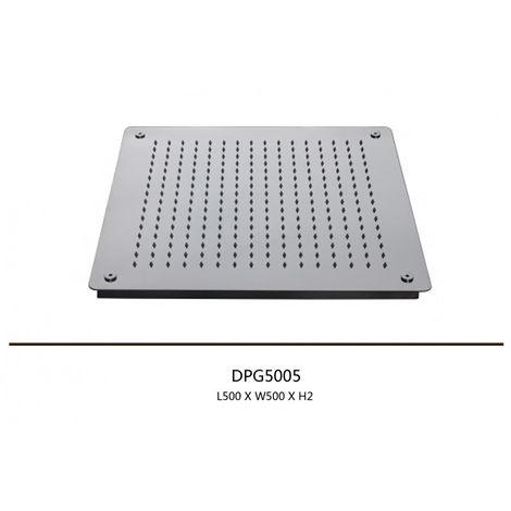 Douche de tête de plafond, douche pluie,50x50cm, carrée, DPG5005
