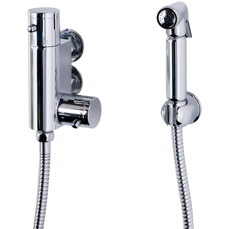 Douche Shower Spray with Wall Bracket & Vertical Thermostatic Bar Valve