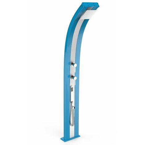Douche solaire avec douchette Dada Bleu cm 34x14x226 ARKEMA DESIGN - prodotto made in Italy CV-D340/5012-I