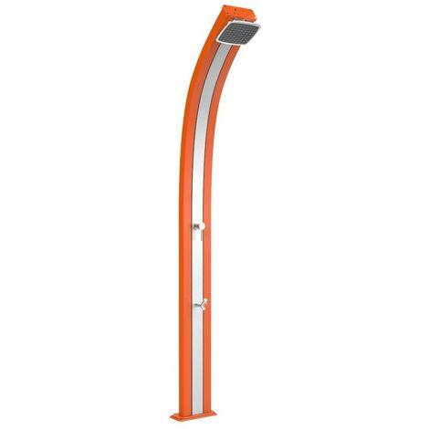 Douche solaire Spring Orange et Inox cm 26x12x224 ARKEMA DESIGN - prodotto made in Italy CV-A120/2009-I