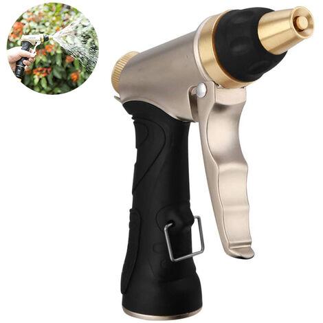 Douchette de jardin, douche de jardin haute pression / pistolet de pulvérisation de jardin - Débit d'eau réglable - Robuste et puissant pour les lave-autos