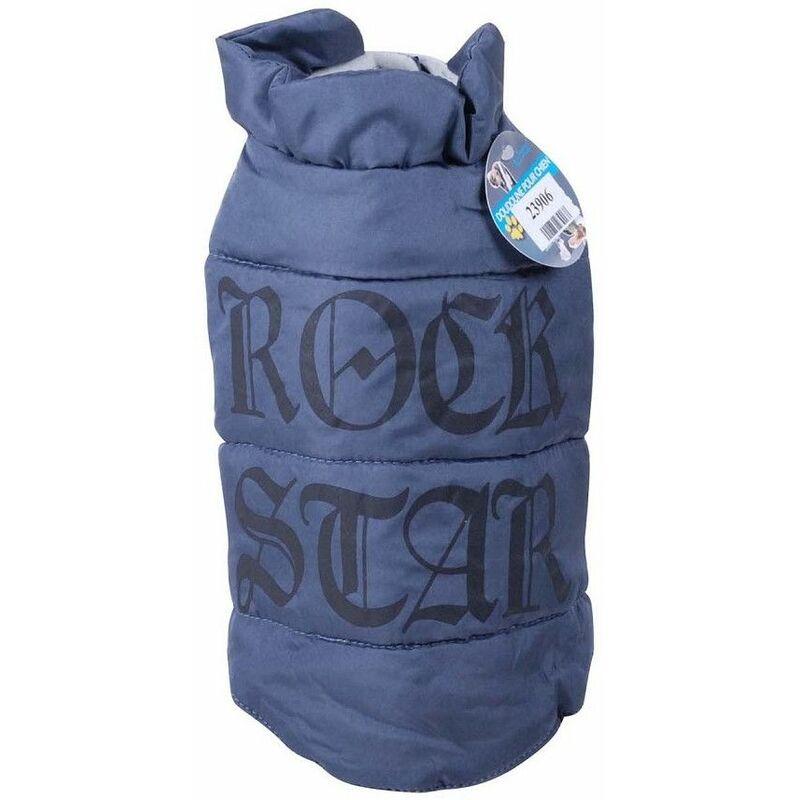 Doudoune pour chien Rock Star - Gris - Taille S 25 cm - Livraison gratuite