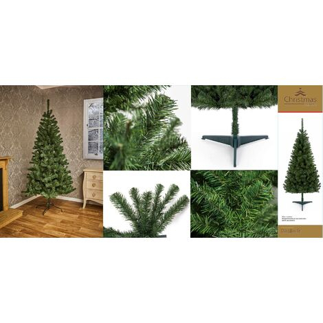Douglas Fir Christmas Tree - Free Wreath and Garland - Green - 210cm / 7 Foot
