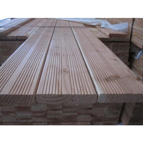 Douglasie Terrassendielen Komplettset 24x124 mm, Länge 2m