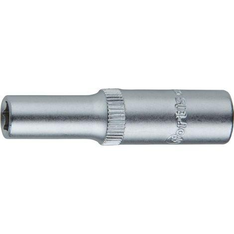 Douille 1/4 10 mm 6kt. long FORTIS