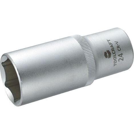 """Douille 6 pans extérieurs 24 mm Longueur: 77 mm TOOLCRAFT 816187 Propulseur (tournevis): 1/2"""" (12.5 mm) 1 pc(s) C98964"""