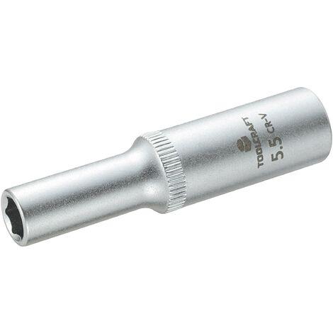 """Douille 6 pans 1//4/"""" métrique 5.5mm clé à cliquet ou tournevis qualité pro 5.5"""