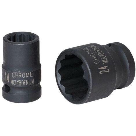 """Douille longue 12 pans 1//2/"""" métrique 32mm clé à choc impact qualité pro 32"""