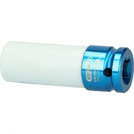 Douille à chocs KS 1/2, revetement ABS Ø17 mm - pour jantes aluminium -