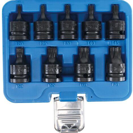 Douille à embouts à choc 12,5 mm (1/2') profil T (pour Torx) T20 – T70 9 pièces