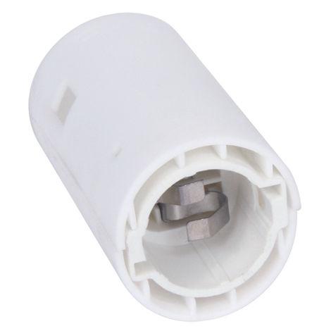 Douille B22 chantier + serre cable 1 coiffe encliquetable blanc - debflex