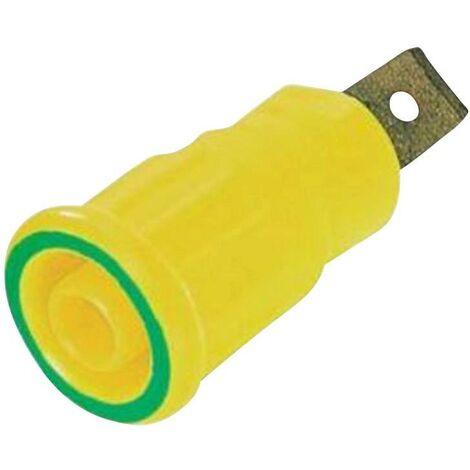 Douille banane de sécurité Stäubli SEB4-F6,3 23.3150-20 vert, jaune 1 pc(s) D12147