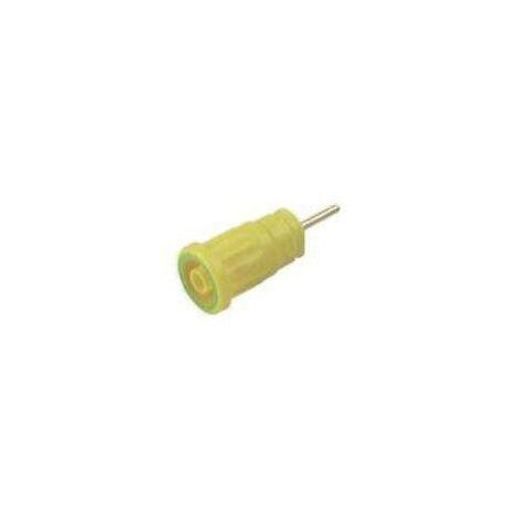 Douille banane de sécurité Stäubli SLB4-F/A 23.3070-0 vert, jaune 1 pc(s) D12238