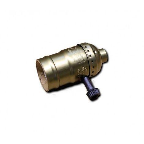 Douille Bronze de type E27 vintage avec interrupteur rotatif