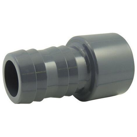 Douille cannelée en PVC à coller - Ø A: 50mm | Ø B: 40mm | Ø C : 38mm