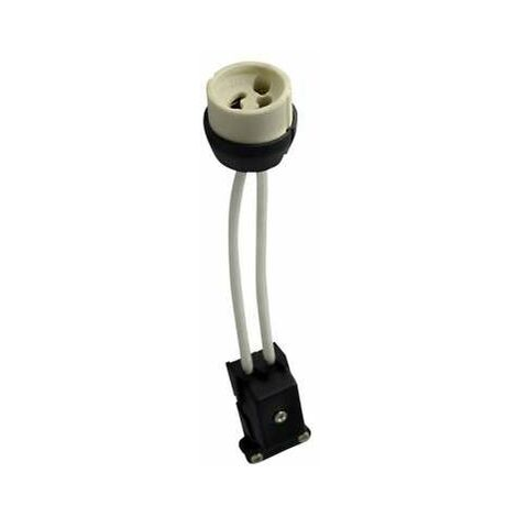 Douille Céramique GU10 avec Connecteur Protégé