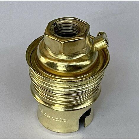 """main image of """"Douille chantier acier laiton B22 baionette double bague pour cable d'alimentation diam M11 EBENOID 043311"""""""