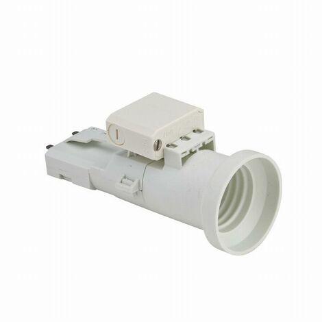 Douille DCL provisoire E27 + Fiche DCL 2 ampères 250v 500w maxi NF DEBFLEX Blanc - 712780