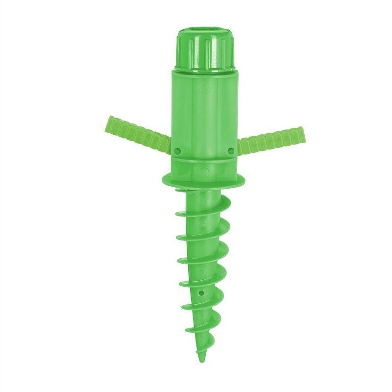 Relaxdays - Douille de sol, Avec des poignées, Piquet de sil pour parasol, séchoir-parapluie, 19 - 32 mm, plastique, vert