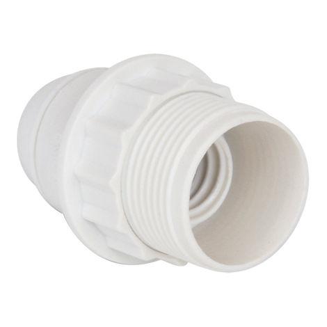 DOUILLE E14 1/2 FILETEE PLASTIQUE BLANC