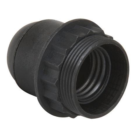 Douille E27 chem 1/2 filetee avec bague D58mm raccord 10mm noir - Debflex