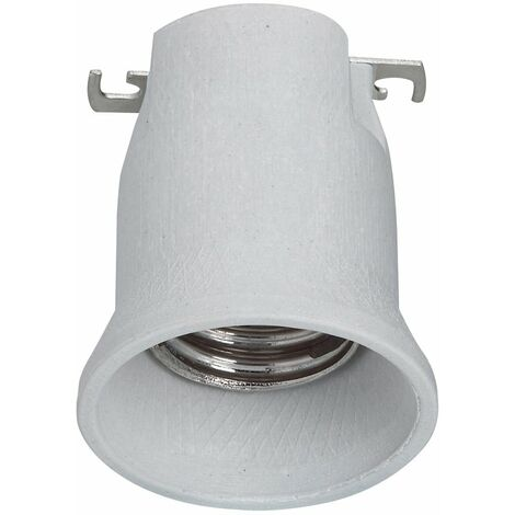 Douille E40 écl public - monobloc - 16 A - 750 V~ - frein de culot - porcelaine
