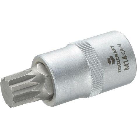Douille-embout denture multiple (XZN) 14 mm Longueur: 55 mm TOOLCRAFT 816171 Propulseur (tournevis): 1/2 (12.5 mm) 1 pc(s)