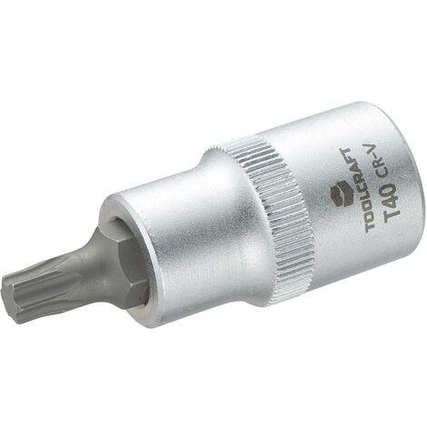 Douille-embout TORX® intérieur T 40 Longueur: 55 mm TOOLCRAFT 816166 Propulseur (tournevis): 1/2 (12.5 mm) 1 pc(s)
