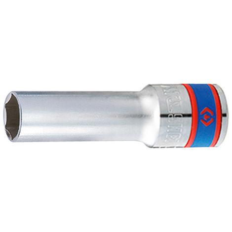 Douille extra longue métrique 6 pans 1/2 - 8 mm L. 90 mm - -