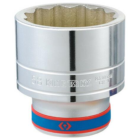 """Douille Métrique 1"""" (25,40 mm) 12 pans 63 à 80 mm"""