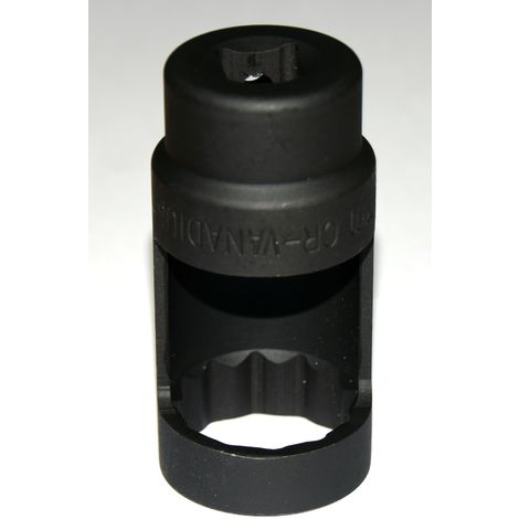 Douille ouverte démontage d'injecteur 12 pans 28 mm / 80 mm / 1/2'