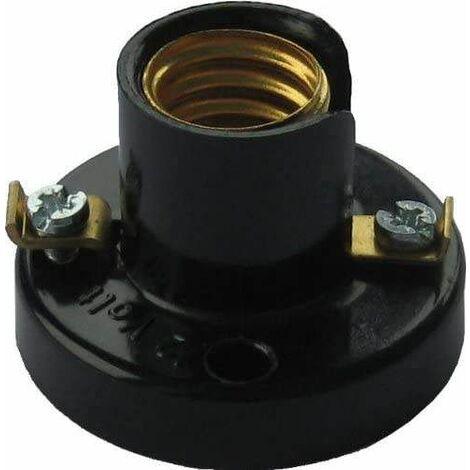 Douille patère E10, 2A, 250V, 2 trous de montage à 30mm de distance