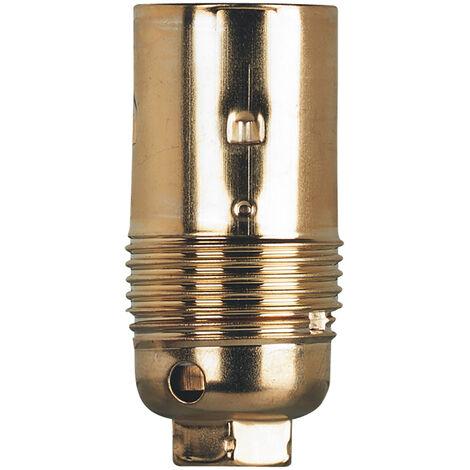 Douille pour ampoule E14 - acier laitonné