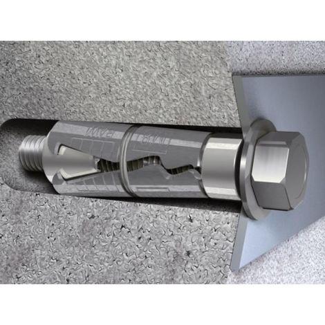Douilles à simple expansion à vis L, dimensions 25x115 mm, épaisseur à fixer 15 mm en boîte de 10