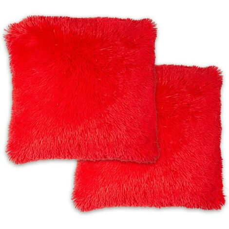 """Doux Cushion Cover 17 X 17"""" Red Bed Sofa Unfilled Accessory"""