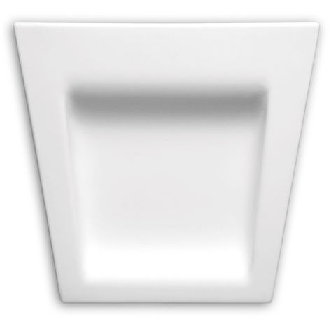 Dovela central Profhome 485001 Elemento de fachada Marco para ventanas Elemento decorativo diseño moderno blanco
