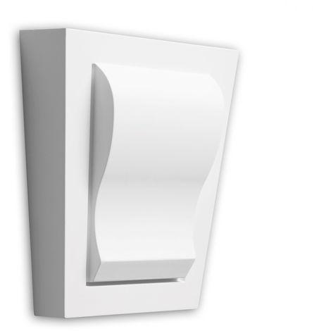 Dovela central Profhome 485002 Elemento de fachada Marco para ventanas Elemento decorativo estilo Neoclasicismo blanco
