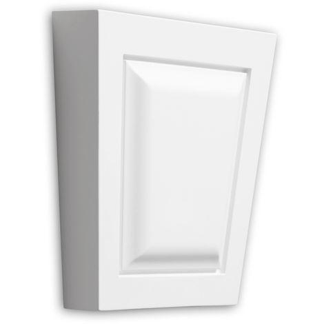 Dovela central Profhome 485003 Elemento de fachada Marco para ventanas Elemento decorativo diseño moderno blanco