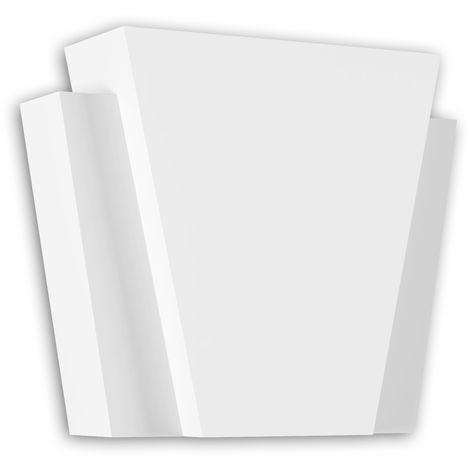 Dovela central Profhome 485004 Elemento de fachada Marco para ventanas Elemento decorativo diseño atemporal clásico blanco