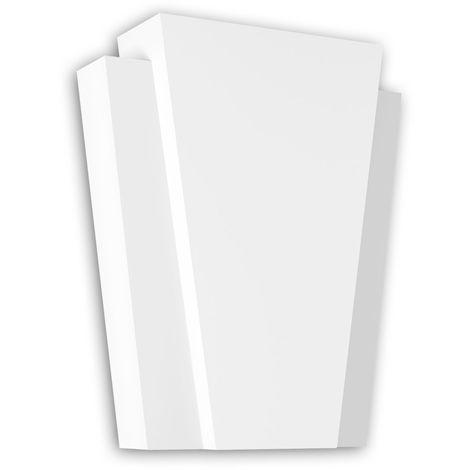 Dovela central Profhome 485005 Elemento de fachada Marco para ventanas Elemento decorativo diseño moderno blanco