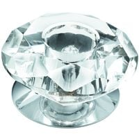 Down Lighters 1 Light Chrome Recessed Fitting Clear Diamond by Washington Lighting