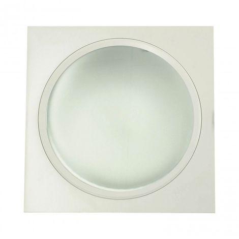Downlight 2 x 26W PLC cuadrado aluminio blanco