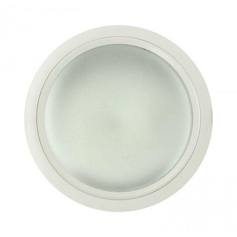 Downlight 2 x 26W PLC O G24 circular Aluminio Blanco