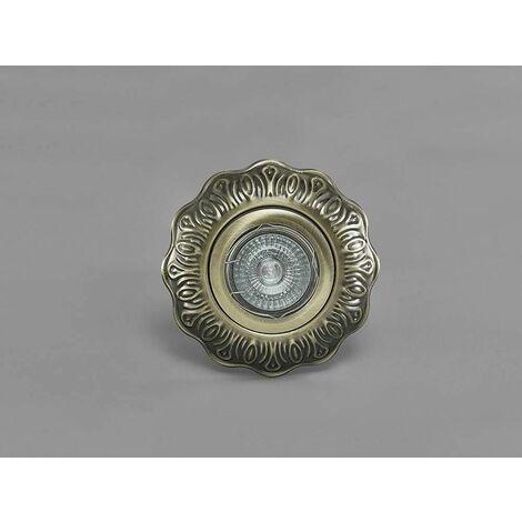 Downlight Aspen Vintage Pattern round GU10 antique brass