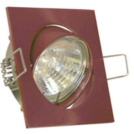 Downlight carré encastrés réglables nous pouvons fournir et conseiller GU10 couleur Cuivre 400619RA-GU10