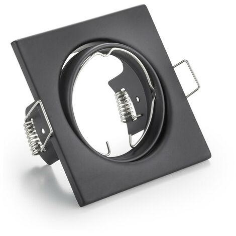 Downlight carré encastrés réglables nous pouvons fournir et conseiller GU10 couleur Noir 400619NE-GU10