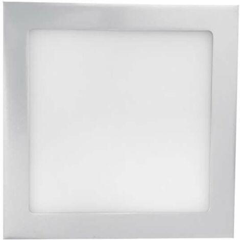 Downlight carré extra fin 18W Gris - Blanc Chaud 3000K